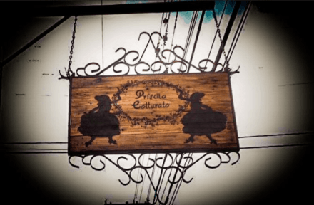 Store Front with Pyrography