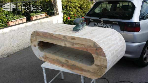 Tv Cabinet/Rack from Recycled Pallet Pallet TV Stands & Racks