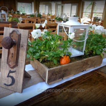 Wedding Centerpieces Made from Pallet Wood