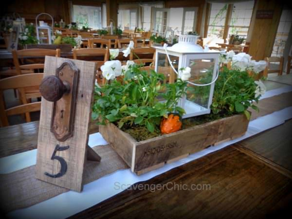 Wedding Centerpieces Made from Pallet Wood Pallet Boxes & Chests
