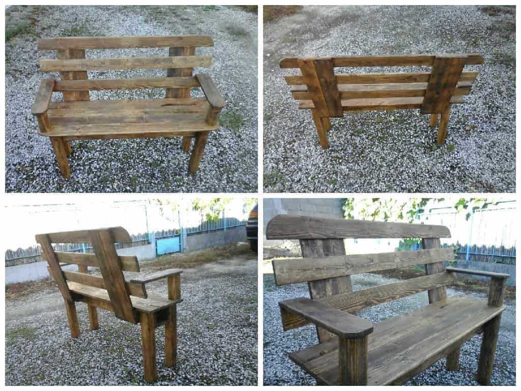 banc en palettes pallet bench 1001 pallets. Black Bedroom Furniture Sets. Home Design Ideas