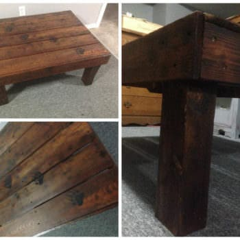 Bear Claw, Pallet Coffee Table