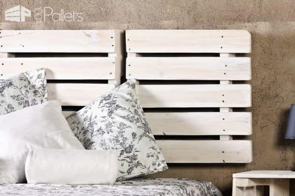 Bed, Headboard & Nightstand Made From Reclaimed Pallets Pallet Beds, Pallet Headboards & Frames