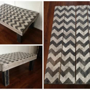 Chevron Painted Coffee Table Made From Repurposed Pallets