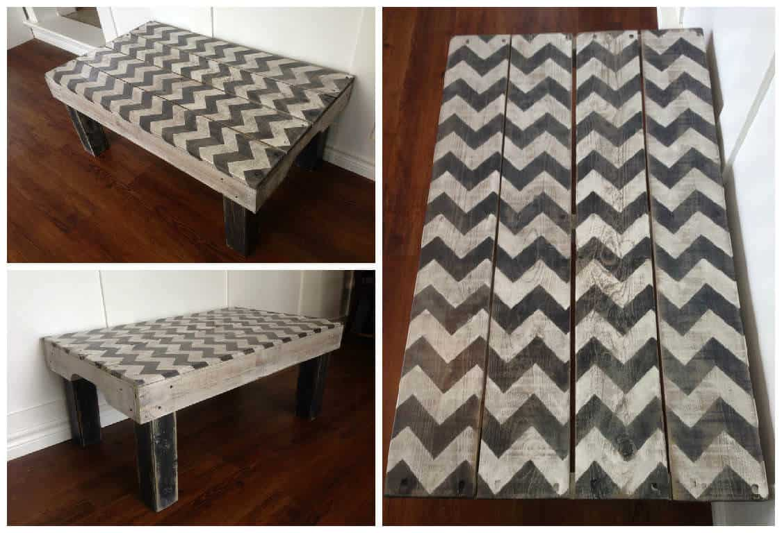Chevron painted coffee table made from repurposed pallets 1001 chevron painted coffee table made from repurposed pallets 1001 pallets geotapseo Image collections