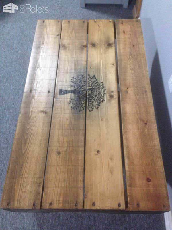 Coated Pallet Coffee Table