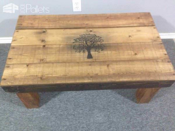 Coated Pallet Coffee Table Pallet Coffee Tables
