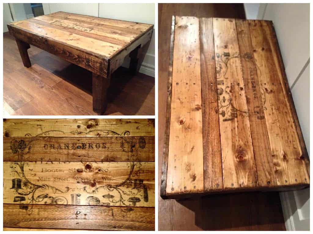 Coffee Table From Upcycled Pallets • 1001 Pallets