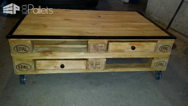 Créations En Palettes / Pallet Furniture Pallet Coffee Tables Pallet Shelves & Pallet Coat Hangers