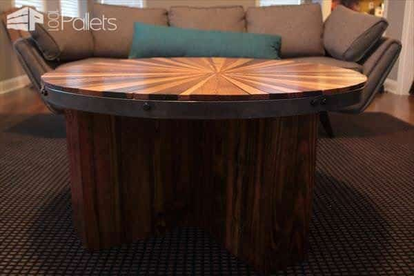 handmade-pallet-sunburst-round-coffee-table