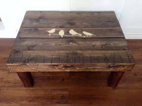 dark pallet coffee table • pallet ideas • 1001 pallets