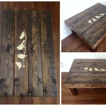 Dark Pallet Coffee Table