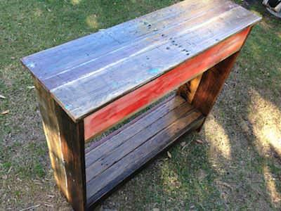 Diy Video Tutorial: How to Build a Hall Table From Recycled Pallets Pallet Desks & Pallet Tables Submitted Tutorials