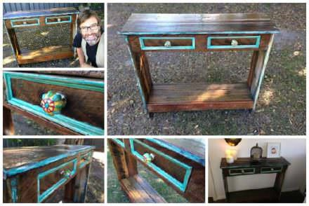How to Build a Hall Table From Recycled Pallets