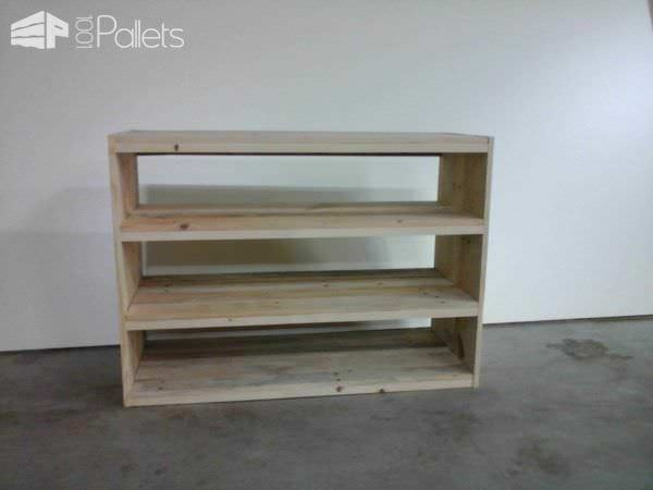 Etag re en bois de palette pallet shoes shelf pallet ideas 1001 pallets - Etagere palette bois ...