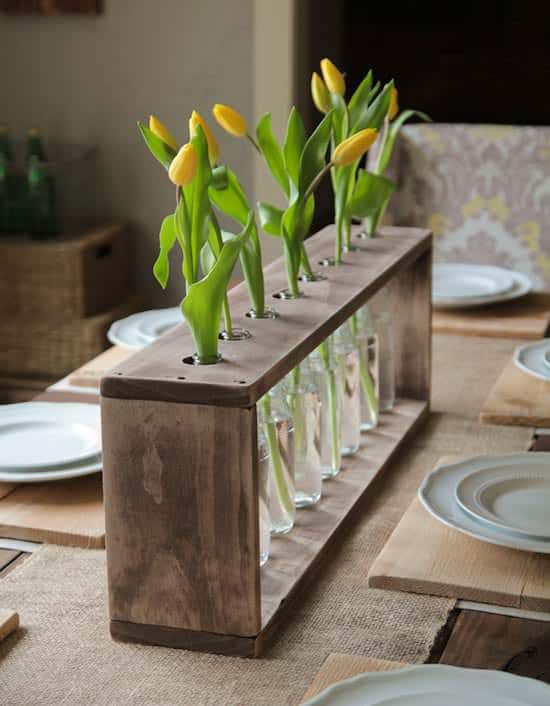 Glass Bottle And Pallet Vase 1001 Pallets
