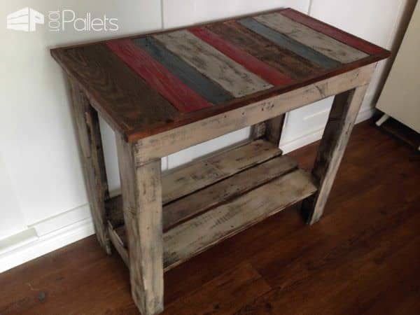 Kitchen Island, Accent or Entrance Table Pallet Desks & Pallet Tables