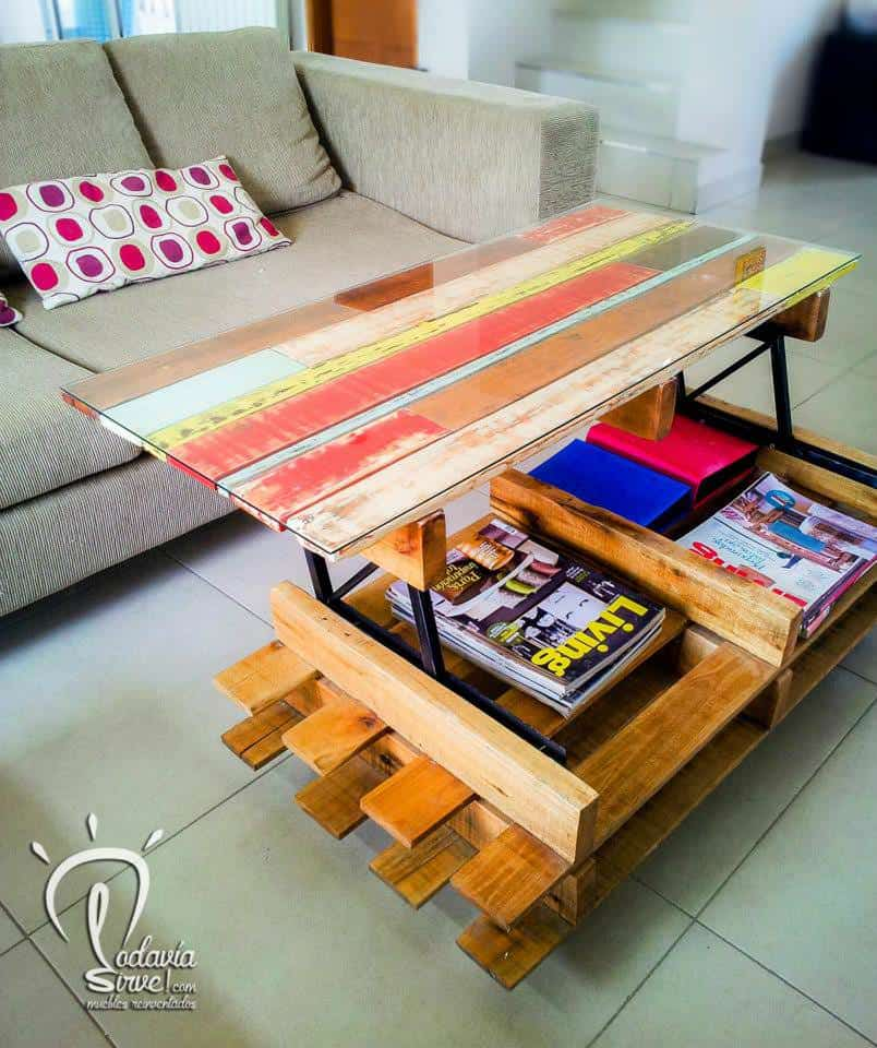 Modular pallet coffee table 1001 pallets for Modular coffee table