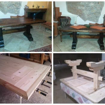 Monastery Coffee Table Made From a Big Wooden Pallet