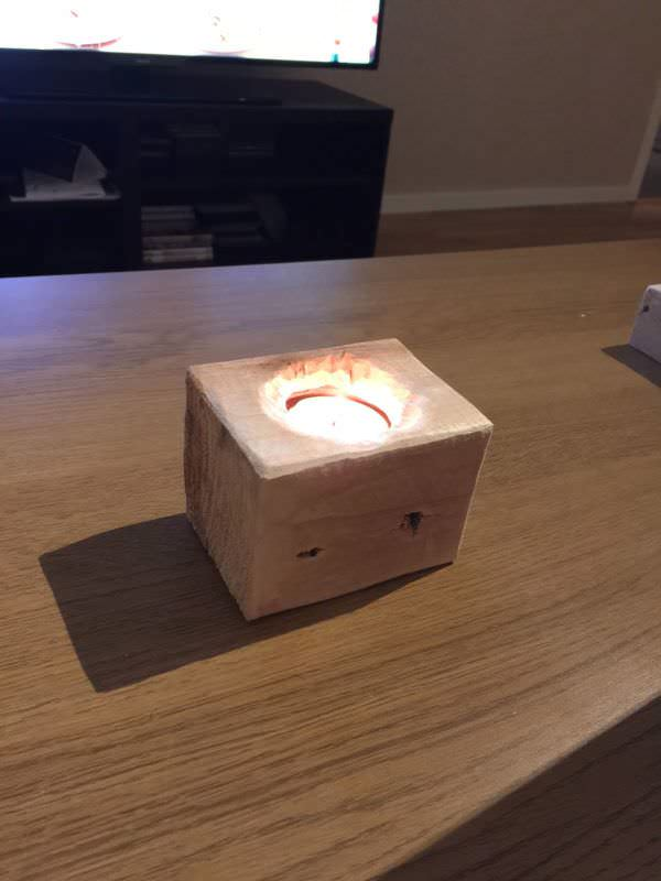 Multi Use Of Pallet Cubes Pallet Boxes & ChestsPallet Candle Holders