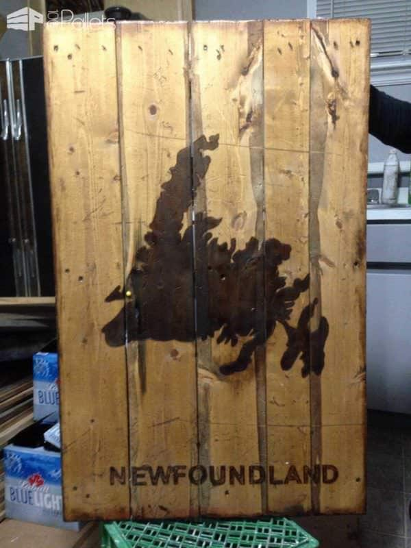 Newfoundland Sign Made with Recycled Pallet Wood Pallet Wall Decor & Pallet Painting