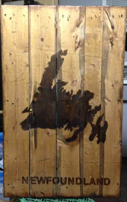 Newfoundland Sign Made with Recycled Pallet Wood