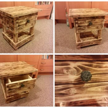 Night Stand Made From Old Pallet Wood