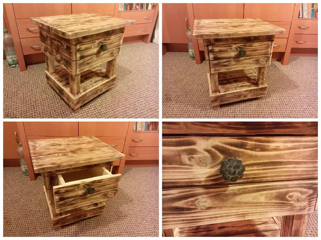 Night Stand Made From Old Pallet Wood 1001 Pallets