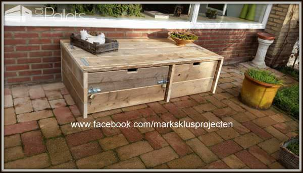 Outdoor Pallet Storage Cabinet Lounges & Garden SetsPallet Boxes & Chests