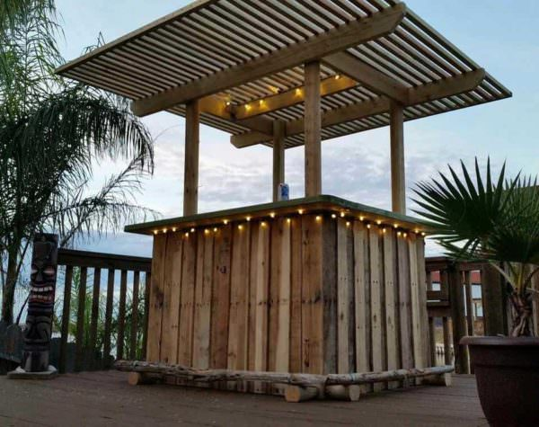 Pallet Backyard Tiki Bar DIY Pallet BarsLounges & Garden Sets