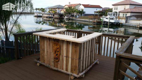 Pallet Backyard Tiki Bar Lounges & Garden Sets Pallet Bars