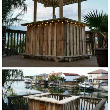 Pallet Backyard Tiki Bar