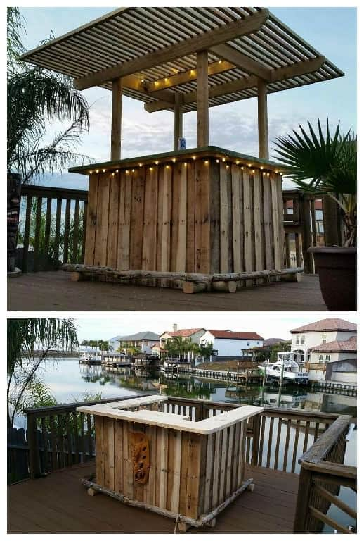 Pallet Backyard Tiki Bar 1001 Pallets
