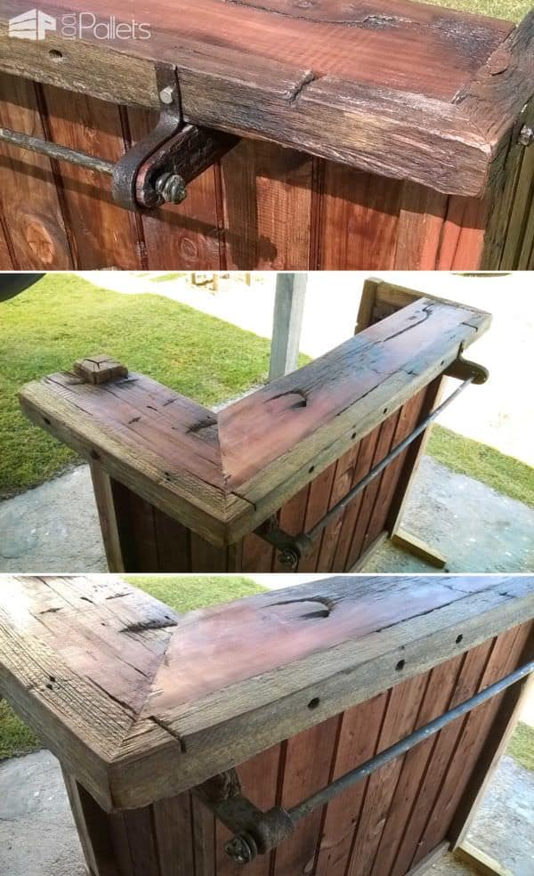 Pallet Bar & Chairs - From Uruguay DIY Pallet Bars