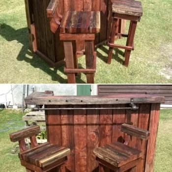 Pallet Bar & Chairs - From Uruguay