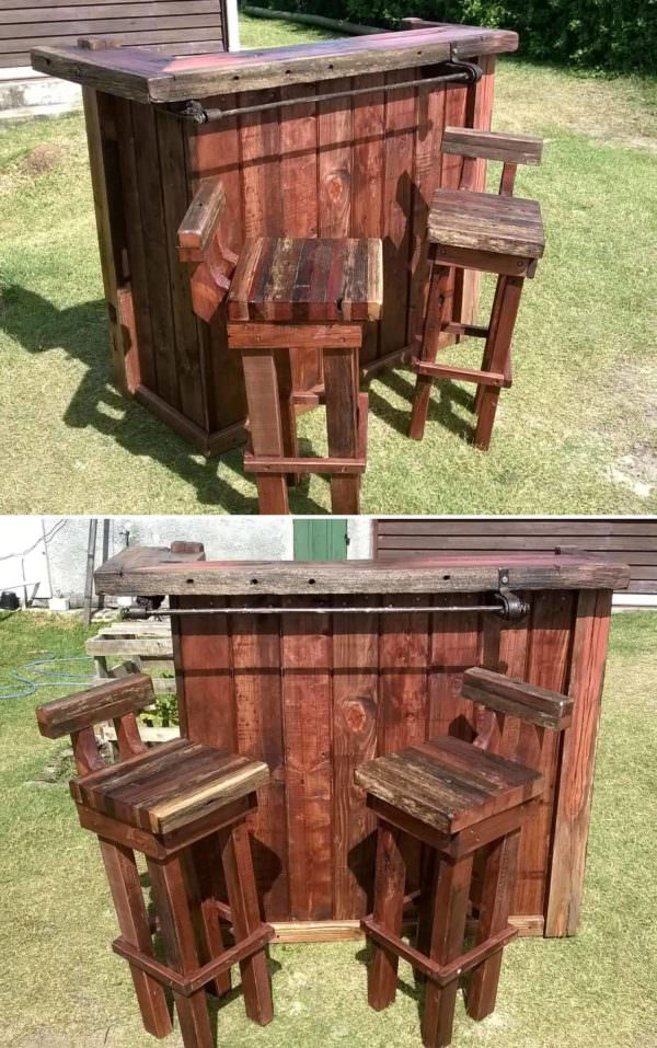 Pallet Bar & Chairs – From Uruguay DIY Pallet Bars