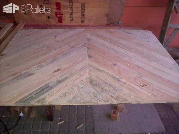 Pallet Bed Headboard Made From Upcycled Pallets & Packaging Crates DIY Pallet Bed Headboard & Frame