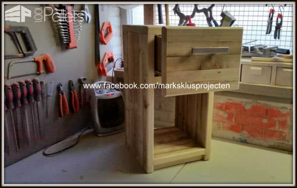 Pallet Bedside Table Pallet Desks & Pallet Tables