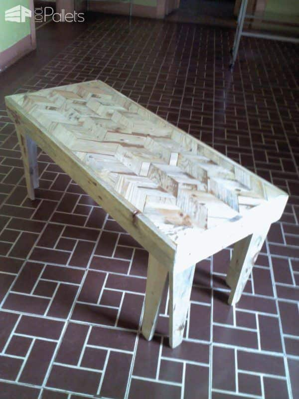 Pallet Marquetry Coffee Table Pallet Coffee Tables