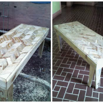 Pallet Marquetry Coffee Table