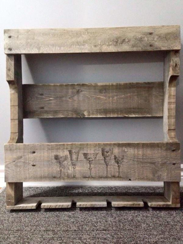 Pallet Wine Rack Pallet Shelves & Pallet Coat Hangers