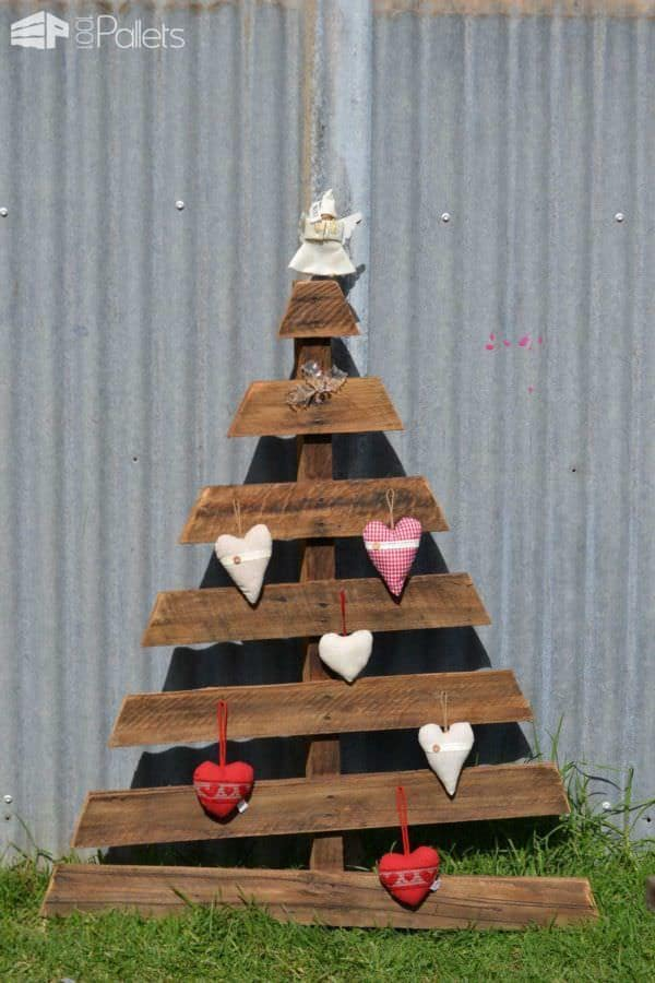 Recycled Pallet Christmas Tree Pallet Home Accessories