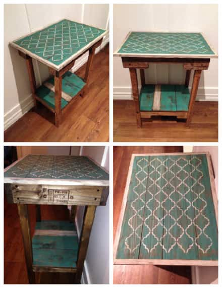 Shabby Chic Accent Table From Repurposed Pallets
