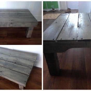 Sun Bleached Pallet Coffee Table