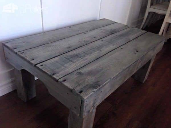 Sun Bleached Pallet Coffee Table Pallet Coffee Tables
