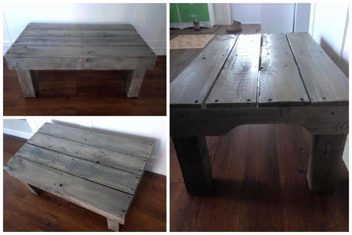 Sun Bleached Pallet Coffee Table 1001 Pallets