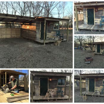 Tiny Off Grid Cabin Made from Pallets & Reclaimed Lumber
