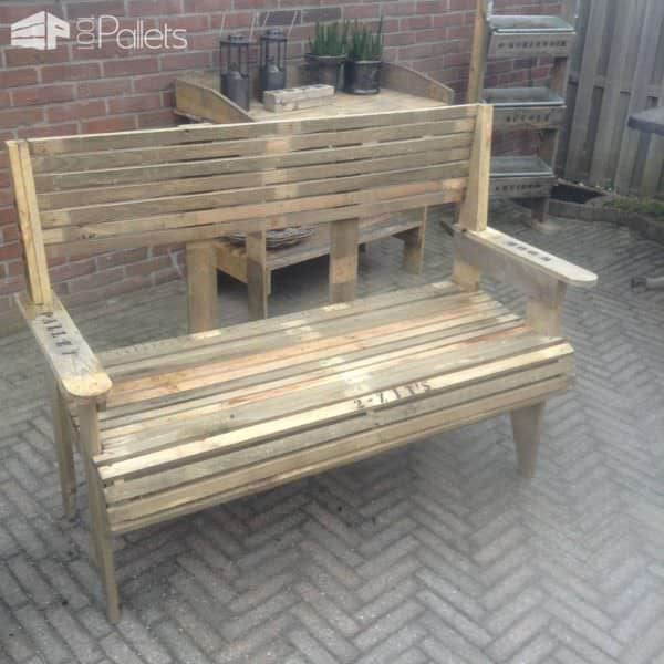 2 Zitsbank En Stoel / Pallet Bench & Chair Pallet Benches, Pallet Chairs & Stools