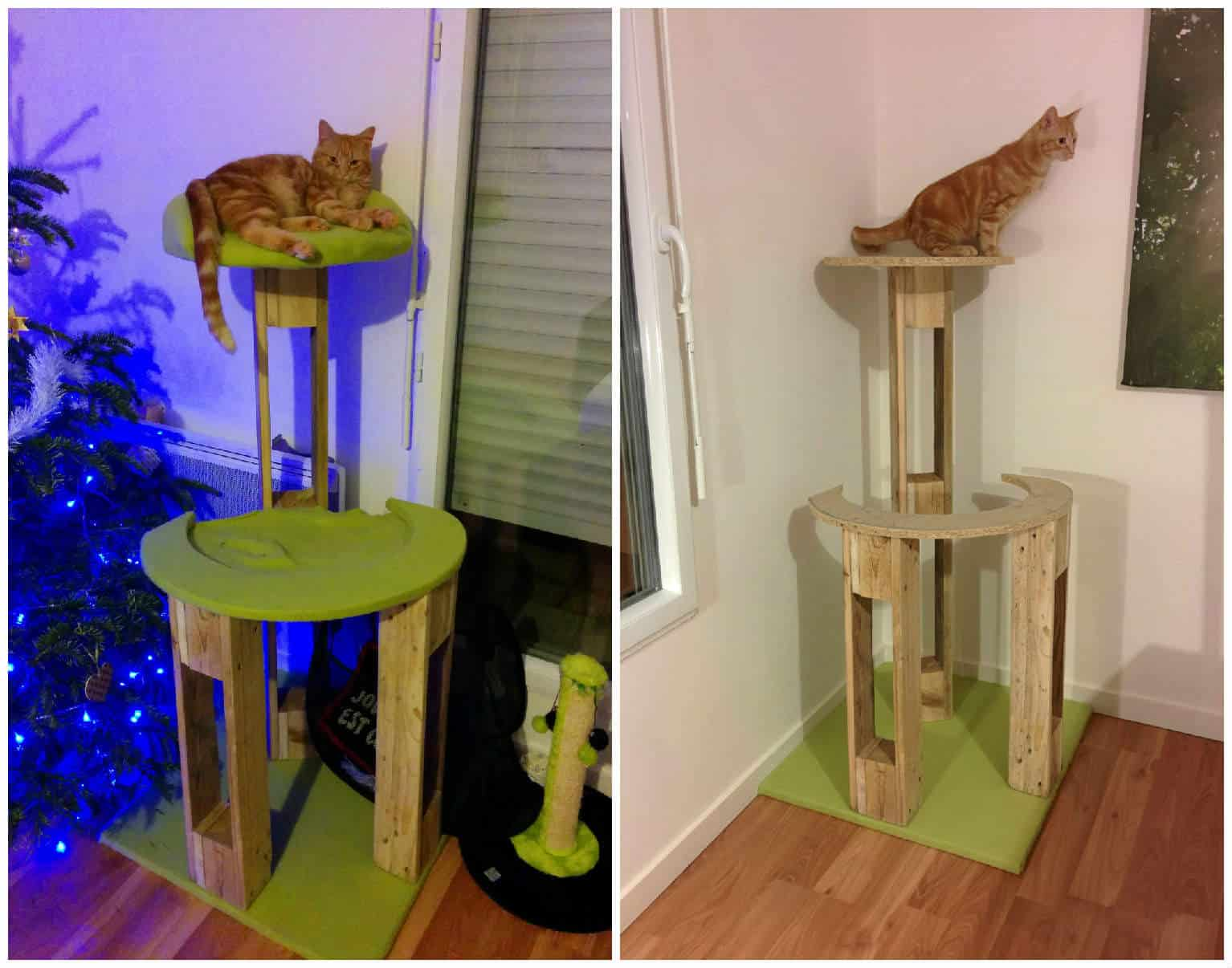 Pallet Cat Scratching Tree Arbre 224 Chat 1001 Pallets