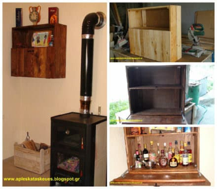 Bar Cabinet From Pallet Wood